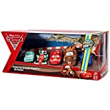 Disney / Pixar CARS 2 Movie Exclusive Die Cast Car 5Pack Tokyo Race Party A Trunkov