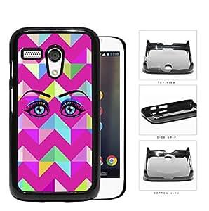 Eye With Magenta Chevron Design Hard Plastic Snap On Cell Phone Case Motorola Moto G