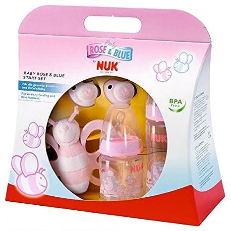 NUK rosa Set de inicio/2 x botella, 2 x Chupete, mariposa ...