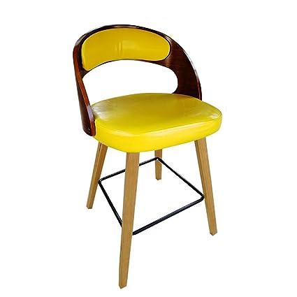 Astonishing Amazon Com Lqqff Solid Wood Bar Chairs Armchairs Bar Ibusinesslaw Wood Chair Design Ideas Ibusinesslaworg