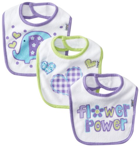 Lamaze Baby-girls Newborn 3 Pocket Terry Bib Elephant