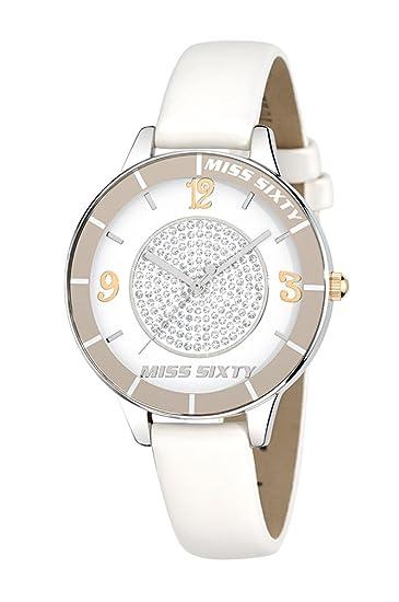 Miss Sixty Light R0751106503 - Reloj para Mujeres, Correa de Cuero Color Beige: Amazon.es: Relojes