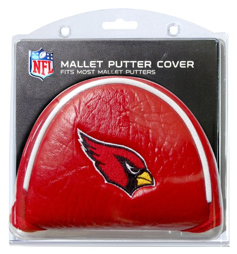 Team Golf NFL Arizona Cardinals Golf Club Mallet Putter Headcover, Fits Most Mallet Putters, Scotty Cameron, Daddy Long Legs, Taylormade, Odyssey, Titleist, Ping, Callaway