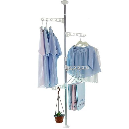 BAOYOUNI - Perchero de 4 niveles para colgar ropa de pie o ...
