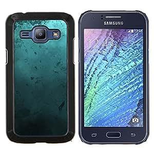 LECELL--Funda protectora / Cubierta / Piel For Samsung Galaxy J1 J100 -- Arte Moderno Random azul turquesa del océano --