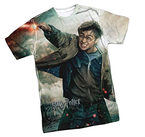 Harry Vs Voldemort -- Harry Potter Front Print Sports Fabric Youth T-Shirt, Youth Medium (10/12)