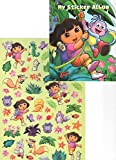 Dora The Explorer Lil' Sticker Collection ~ The Adventures of Dora and Boots! (1 Shaped Sticker Album, 60 Stickers, 1 Poster to Color)