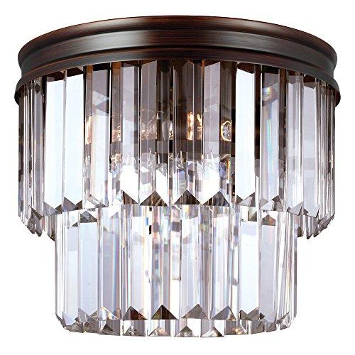 Sea Gull Lighting 7514002-710 Carondelet Two-Light Flush Mount with Clear Beveled Glass Panels, Burnt Sienna Finish ()