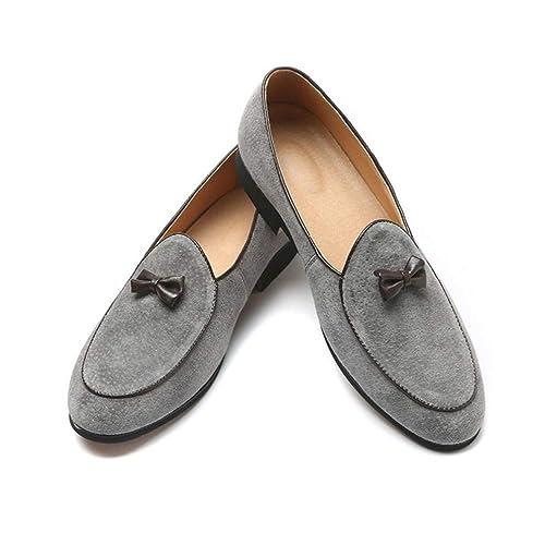 Mujeres Casual Zapato Gamuza Cuero mocasín Plano Bowknot Slip-on Vestido de Conductor Mocasines Unisex Zapatos Doug: Amazon.es: Zapatos y complementos