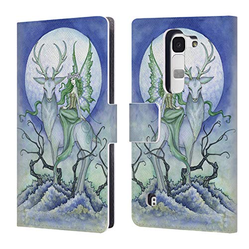 Official Amy Brown Midnight Fairy Elemental Fairies Leather Book Wallet Case Cover Compatible for LG Spirit / H440N / H420