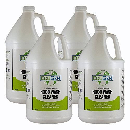 (EcoGen ECOHDW-GCS Commercial Hood Cleaner Concentrate, 1 gal (Pack of 4))