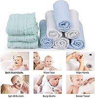 Muselina bebe algodon, Toallas suaves de muselina para bebés, varias funciones (10 paquete A) (10 piezas A): Amazon.es: Bebé