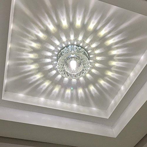 KANG@ Plafond Led Luminaire pour chambre à coucher salle de séjour salle à hommeger moderne et simple de création du corridor lustre,5W Lumière chaude de l'insTailletion,