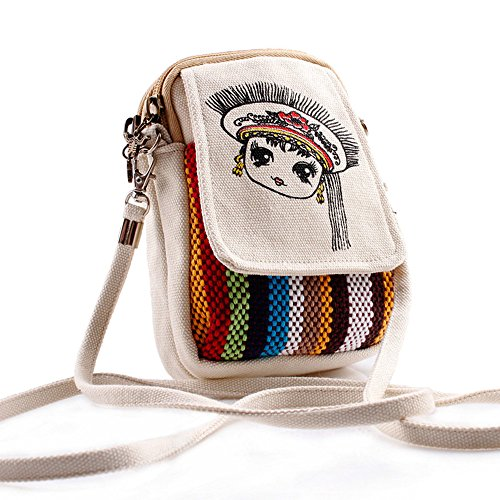 Handbag Purse Bag Crossbody Basic Handmade Coin 06 Women Small Printed Cellphone Vintage Goodhan Mini Pouch Version Style Cq1vwBw