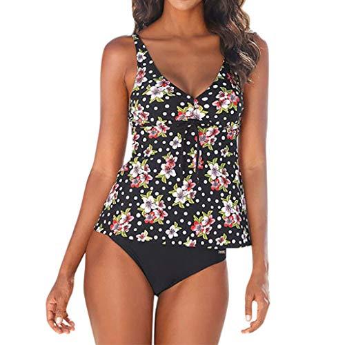 6b09c9636e7869 Riou Damen Tankinis Push Up Bauchweg Sexy Große Größen Bikini Sets  Zweiteilige Bademode Badeanzug Strandkleidung mit
