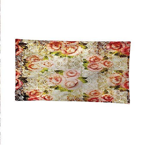 Rosebeach Tapestry Wall hangingdorm Room tapestryPsychedelic Floral Motif 72W x 54L Inch
