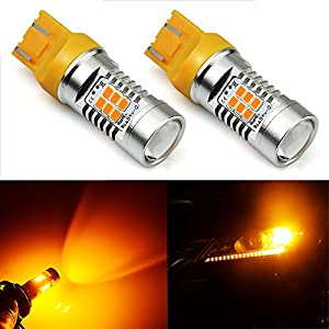 JDM ASTAR 1260 Lumens Extremely Bright PX Chipsets 7440 7441 7443 7444 LED Bulbs ,Amber Yellow