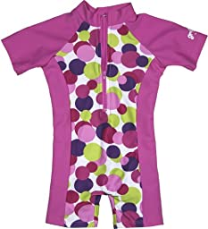 grUVywear UV Sun Protective (UPF 50+) Baby 1 piece Candy Circles Swimsuit 6-12 Months
