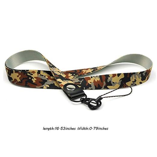 Amazon.com: Llavero con impresión de leopardo, con correa ...