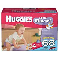 Huggies Little Movers Diapers, Size 4, 64 Count