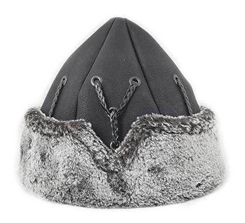 Yasir Mens Turkish Ottoman Bork Hat Ertugrul Dirilis Fur Leather Winter Cap