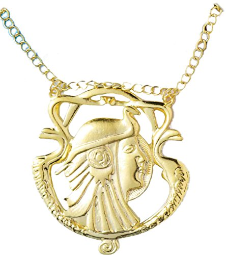 [Egyptian Man Gold Necklace] (Ancient Egypt Costumes)