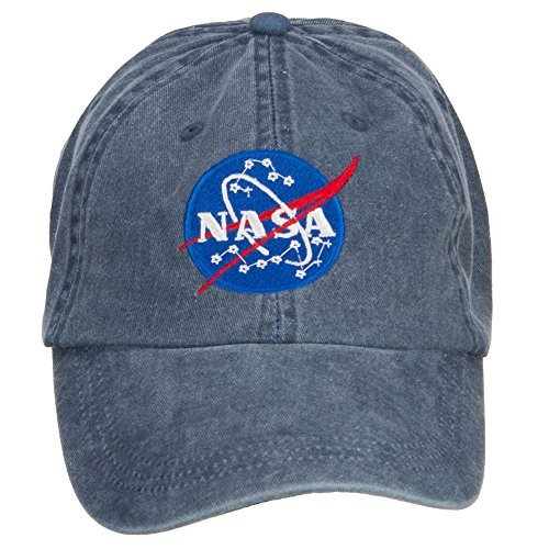 Navy Insignia Cap (E4hats NASA Insignia Embroidered Washed Cap - Navy OSFM)