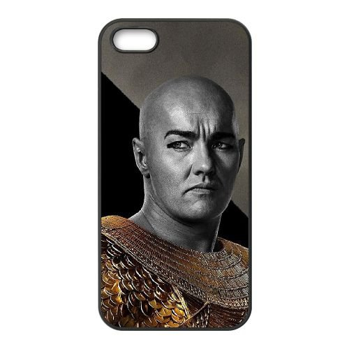 Exodus Gods And Kings 5 coque iPhone 4 4S cellulaire cas coque de téléphone cas téléphone cellulaire noir couvercle EEEXLKNBC24986
