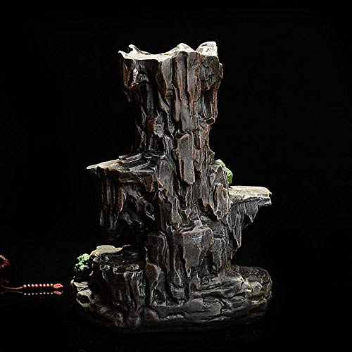 Mountain Stream Backflow Incense Burner, Handcrafted Resin Incense Cone Burner, Aromatherapy Furnace for Home Decor, Backflow Incense Holder with 10 Backflow Incense Cones