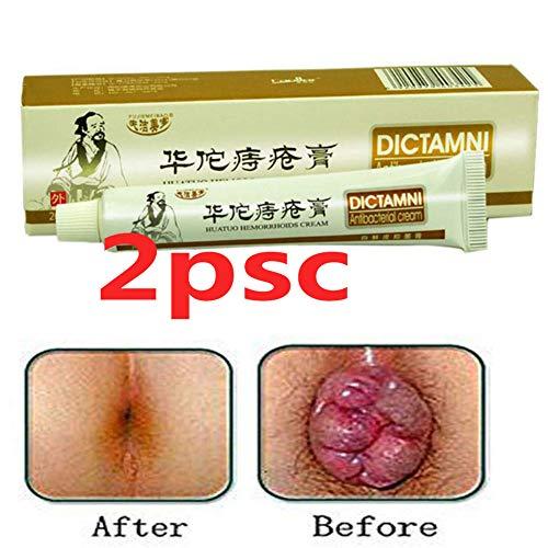 Hemorrhoids Cream-Chinese Herbal for Treatment Hemorrhoids Cream Anus Prolapse Anal Fissure Antibacterial Cream (2) (Internal Hemmoroid Treatment)