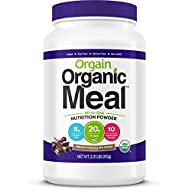 Orgain Organic Plant Based Meal Replacement Powder, Creamy Chocolate Fudge, Vegan, Gluten Free, Non-GMO, 2.01 Pound, 1 Count, Packaging May Vary