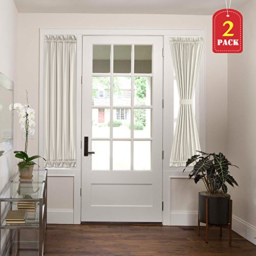 H.VERSAILTEX Thermal Insulated Blackout French Door Curtain Panels 25