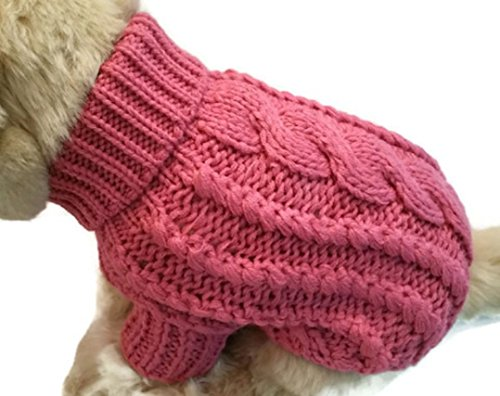 Le Petit Chien Handmade Knitwear Soft Sweater for Small Dogs or Puppies (Medium, Rose) by Le Petit Chien