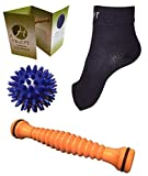 Plantar Fasciitis Bundle by HealPT - Foot Roller, Compression Sleeves (1 Pair), and Porcupine Ball - Effective Tools for Foot Pain Relief (LARGE) by HealPT