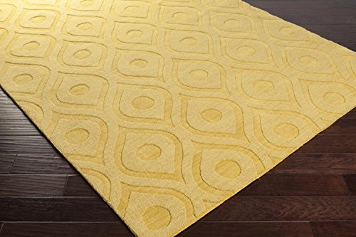 Cheap Super Area Rugs Yellow Rug Contemporary Design 9-Foot x 12-Foot Wool Handmade Trellis