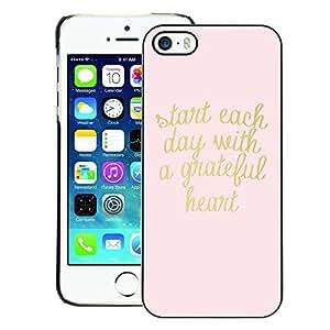 Supergiant (Gold Pink Text Heart Motivational Text) Impreso colorido protector duro espalda Funda piel de Shell para iPhone 5 / 5S