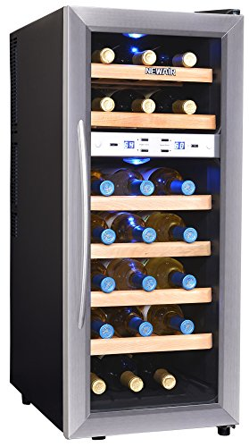 NewAir 21 Bottle Dual Zone Wine Cooler - Stainless Steel AW-211ED