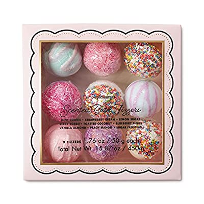 Bon Bon Bath Bombs Gift Set 9 Easily Biodegradable Fizzies, Perfect for Bubble & Spa Bath, Perfect Gift for Her