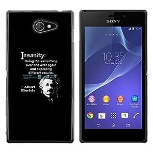 All Phone Most Case / Hard PC Metal piece Shell Slim Cover Protective Case Carcasa Funda Caso de protección para Sony Xperia M2 albert Einstein quote science scientist