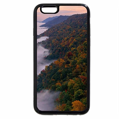 iPhone 6S Case, iPhone 6 Case (Black & White) - Kingdom Come State Park, Kentucky