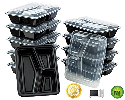 Green Direct Microwave Safe Food Containers with Lids / Bent