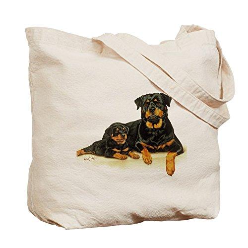 CafePress–Rottweiler–Borsa di tela naturale, panno borsa per la spesa