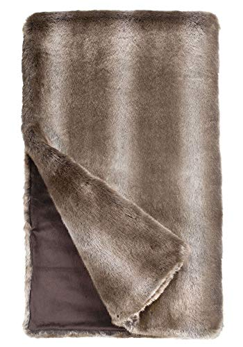 "Fabulous Furs: Faux Fur Luxury Throw Blanket, Timber Wolf, Available in Generous Sizes 60""x60"", 60""x72"" and 60""x86"", by Donna Salyers -  Donna Salyers' Fabulous Furs, 11014TMBWLF"