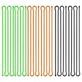 Scratch(TM) Reusable Rubber Cords,twist Ties—Cable Manager and Cord Keeper For Travel,Organize Electronics Assorted Colors(Black,Green,Orange) 6 Pack (32 Inches)