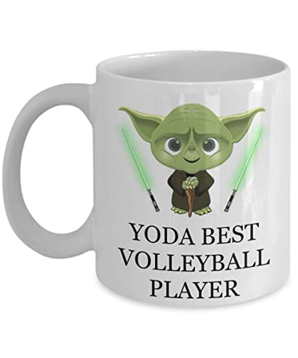 Image Unavailable Not Available For Color Yoda Best Volleyball Player Birthday Funny Gifts