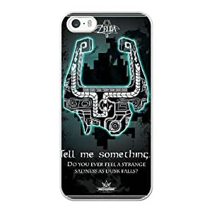 Wunatin Hard Case ,iPhone 5 5S Cell Phone Case White Legend of Zelda [with Free Tempered Glass Screen Protector]5691265311748