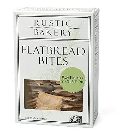 Rustic Bakery Gourmet Flatbread Bites Rosemary Olive Oil 4 Oz 1