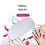 Expxon Dryer Portable USB Nail Curing Lamp UV LED Gel Based Polish,24W Nail Manicure & Pedicure Tool