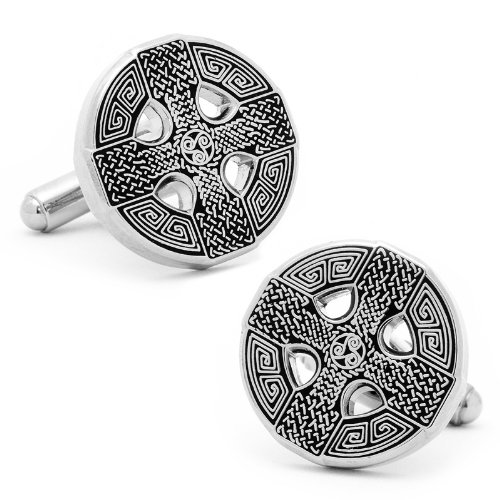 Cufflinks Inc. Men's Celtic Cross Cufflink, Silver, One Size - Cufflink Cross