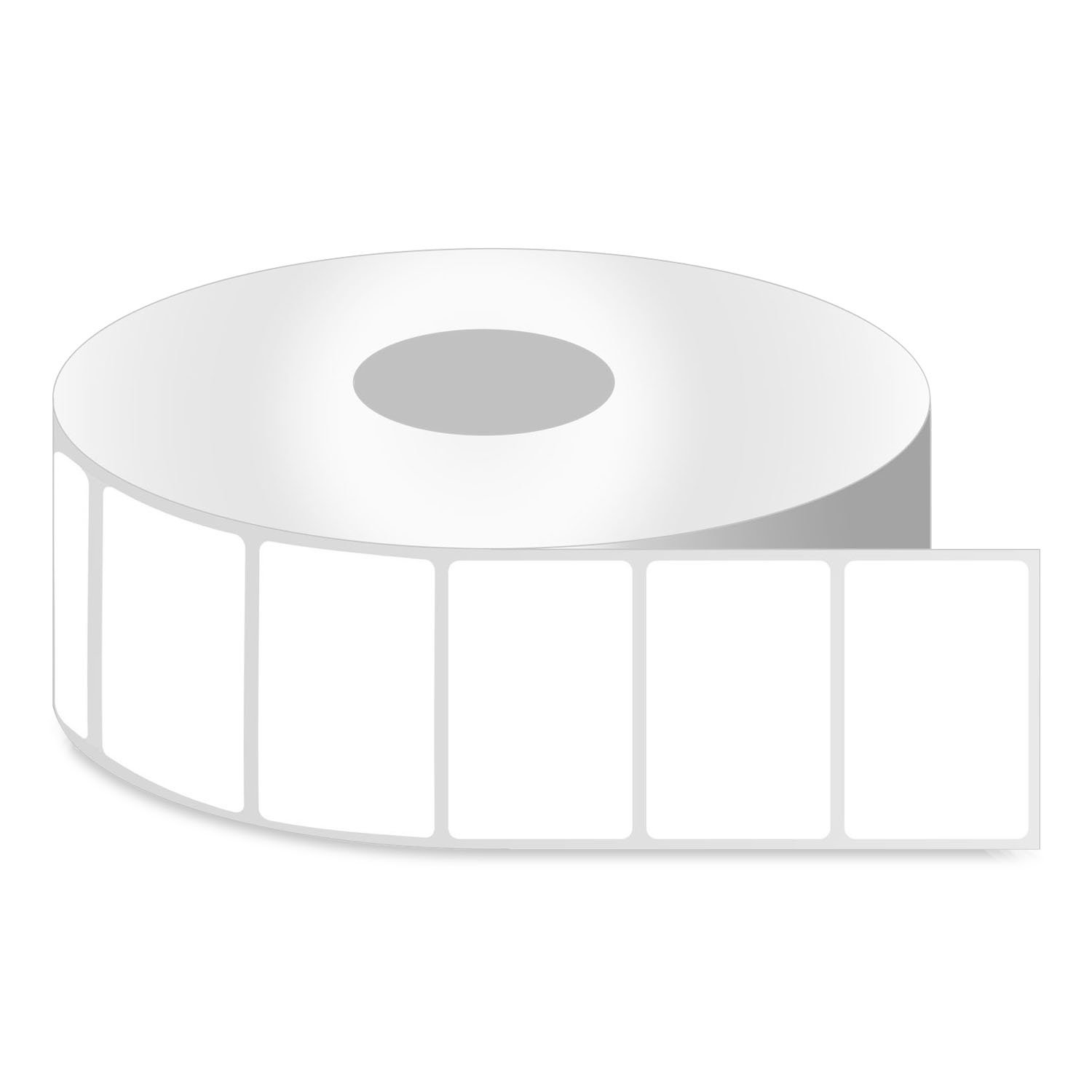 OfficeSmartLabels ZR1200100 Removable 2 x 1 Inch Direct Thermal Labels Compatible with Zebra (4 Rolls, White, 1300 Labels Per Roll, 1 inch Core)
